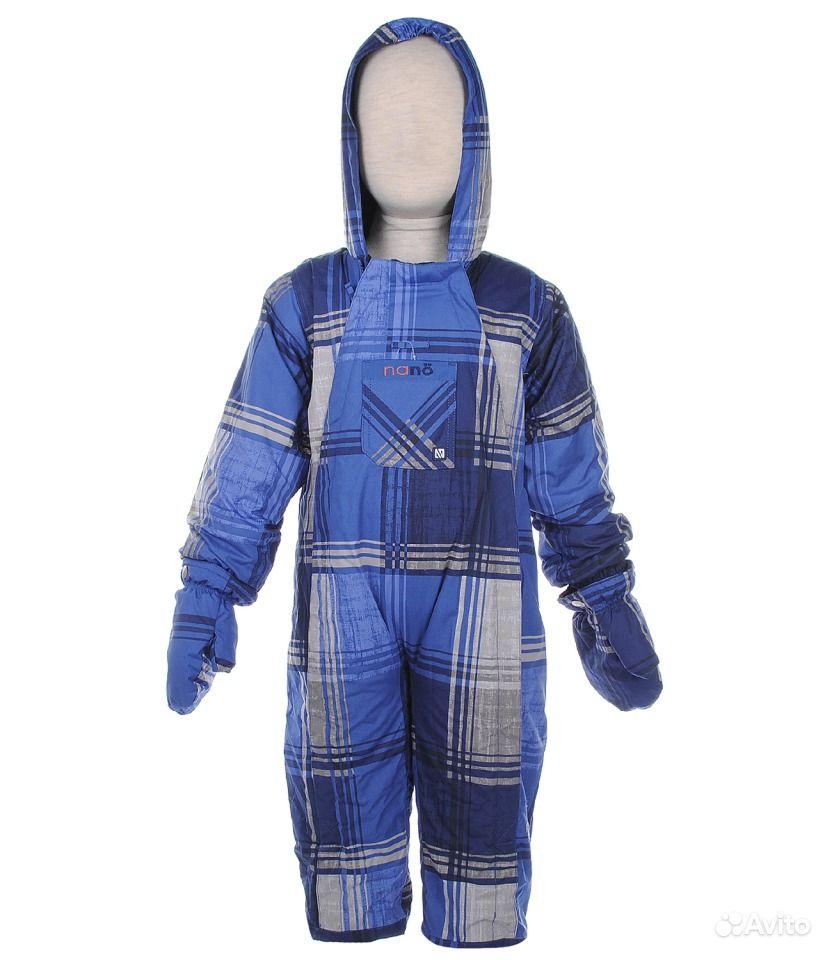 синий комбинезон демисезонный для мальчика Nano, детская одежда в интернет-
