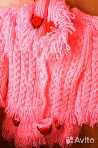 Вязаное пальто 89156540208 купить 1
