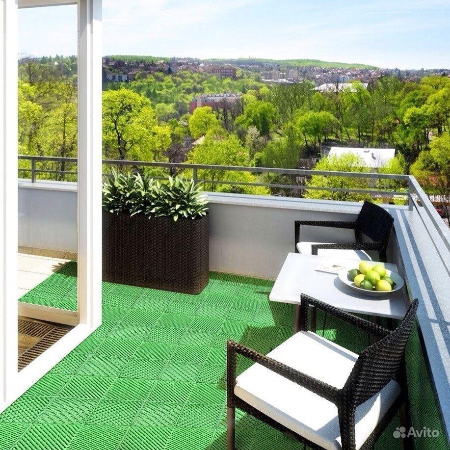 Резиновое покрытие для балкона..