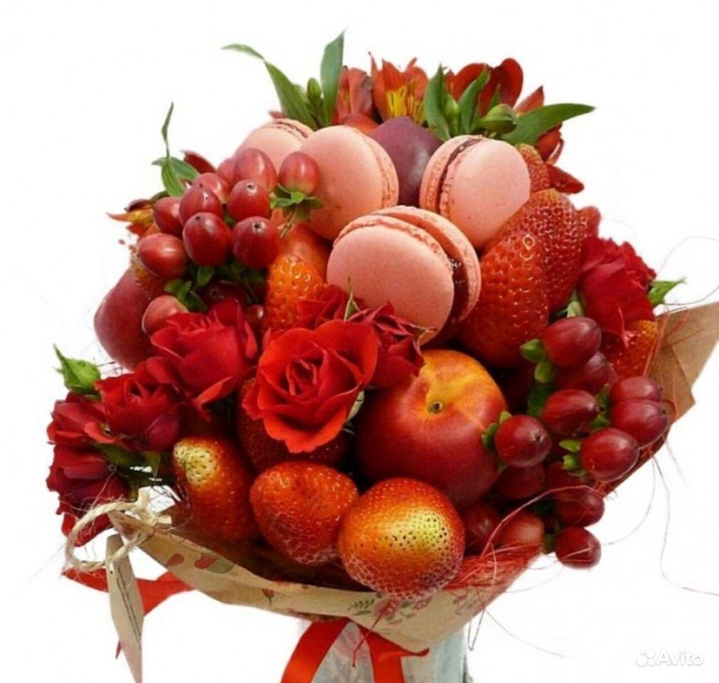 Картинки букетов из фруктов и конфет
