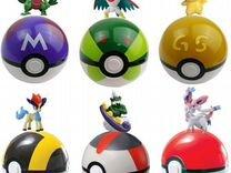 Pokeball покемон шар мячик + игрушка в середине