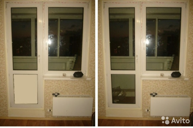 Заменить стеклопакет на балконе..