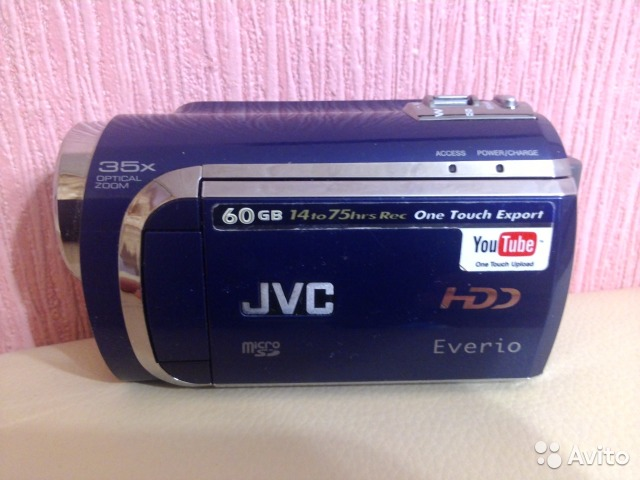 Видеокамера JVC everio GZ-MG630AER (blue)— фотография №1