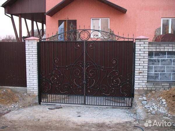 Авито комплект для ворот сдвижные ворота со встроенной калиткой