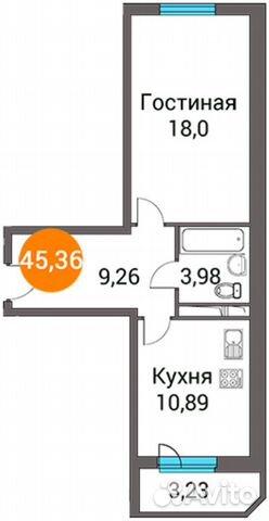 Продается однокомнатная квартира за 2 987 798 рублей. д.п. Зеленоградский, ул. Зеленый город 3.