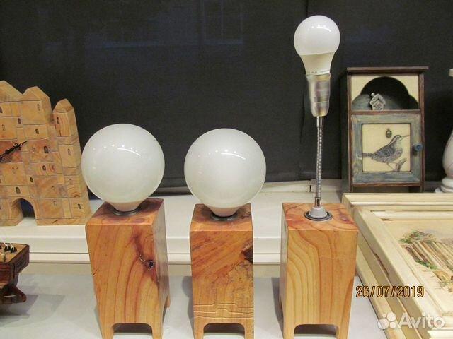 светильники в стиле лофт ручной работы из дерева купить в