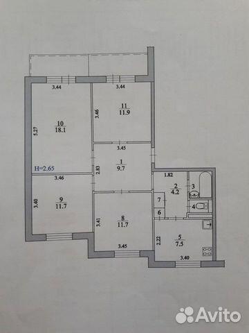 4-к квартира, 80 м², 12/16 эт. 89370853535 купить 8