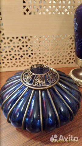 Старинная кобальтовая лампа 89043366666 купить 7