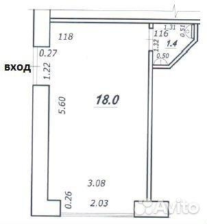 Торговое помещение, 19.4 м²