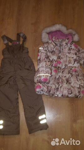 Зимний комплект, полукомбинезон и куртка для девоч