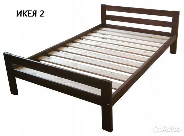 Кровать для дачи из массива сосны