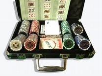 Набор для покера в кожаном кейсе «Аллигатор»