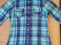 Женская рубашка в клетку, 42 размер