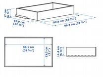 Ящики Комплимент Икеа IKEA под беленый дуб и полки