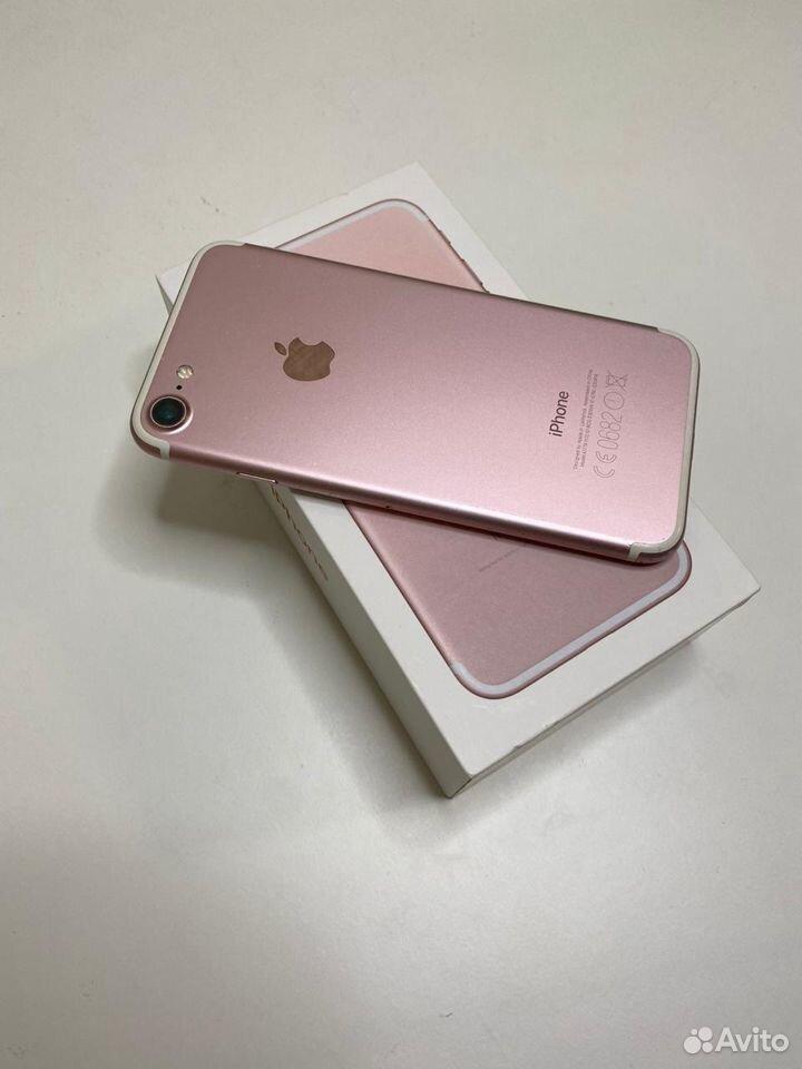 iPhone 7 (розовый) 128 GB в отличном состоянии  89002455392 купить 4
