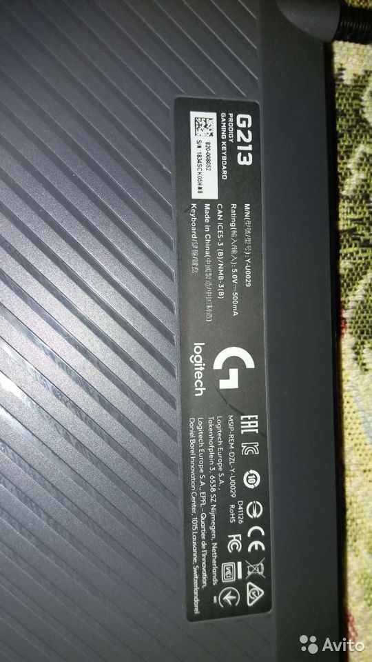 Игровая клавиатура Logitech 213 RGB  89289674707 купить 2