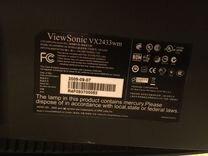 Монитор Viewsonic 24 дюйма Full HD