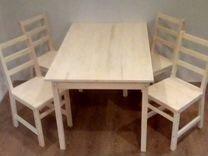 Стол и 4 стула из массива сосны — Мебель и интерьер в Краснодаре