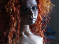 Кукла авторская Марион рыжая