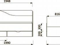 Кровать 2-х ярусная с выдвижной секцией