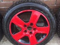 Колеса зимние Audi A4 205/55 R16 Bridgestone 5*112 — Запчасти и аксессуары в Дзержинске