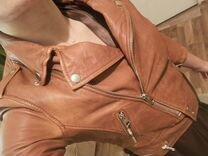 Куртка косуха натуральная кожаная Bershka
