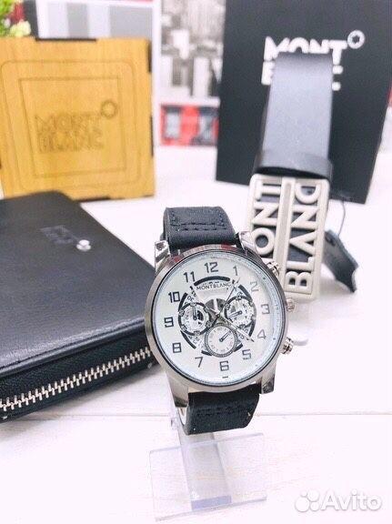 Подарочный набор Mont B (часы, портмоне, ремень)  89063031640 купить 2