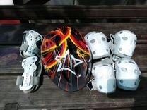 Детский защитный комплект для скейтборда, роликов